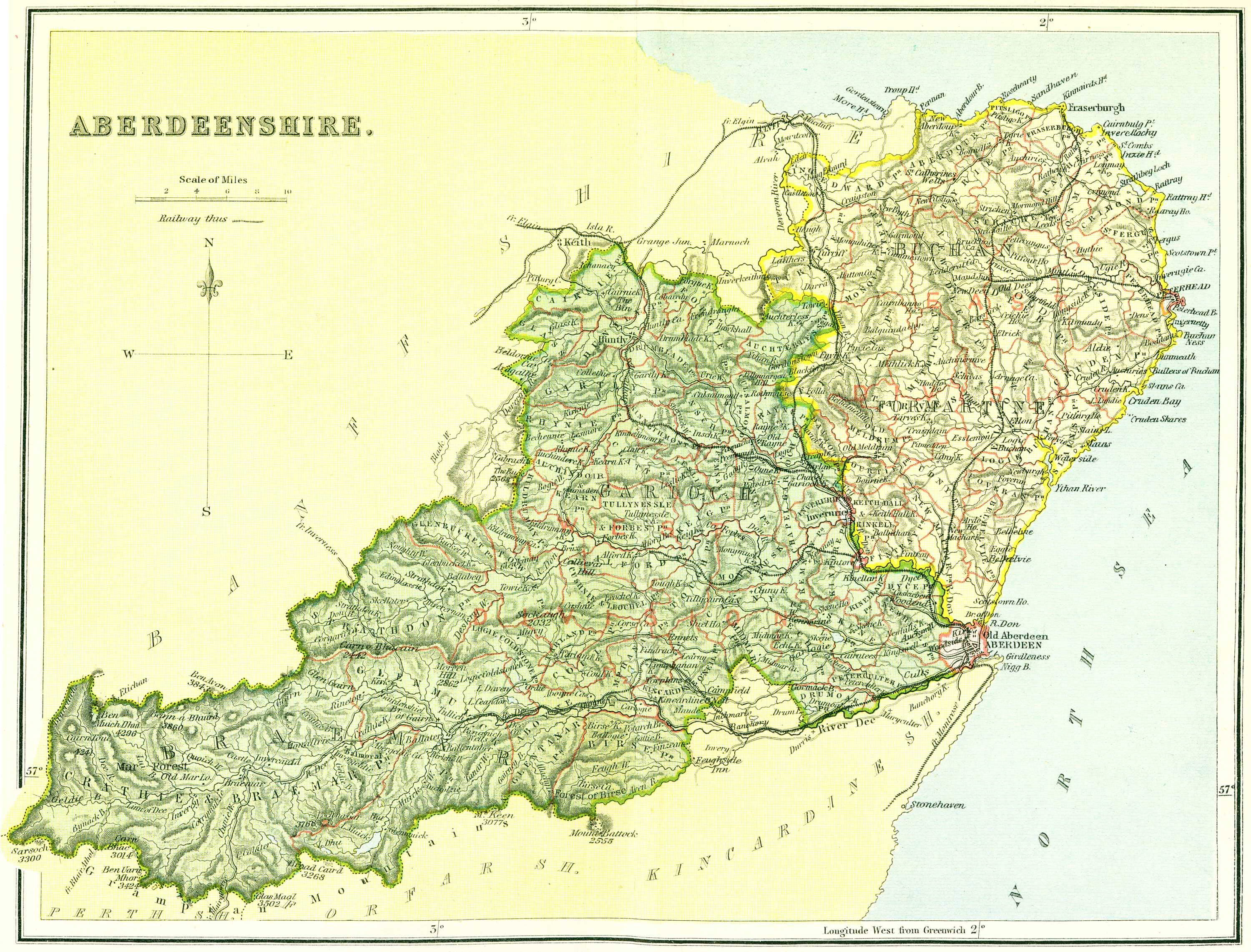 Ordnance Gazetteer of Scotland   Aberdeenshire Map