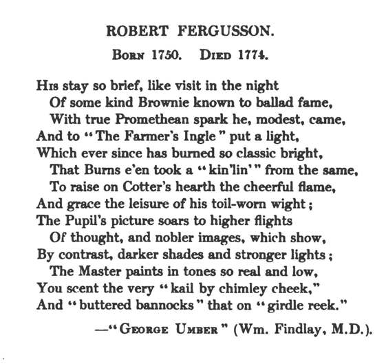 Poetry By Robert Fergusson