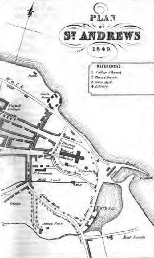Map of St Andrews 1849 right