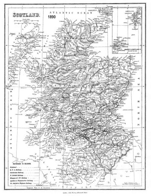 Scottish Railways Map