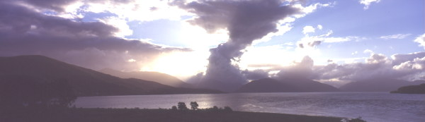 Storm brewing over Loch Linnhe, looking towards the lands of the Macleans of Ardgour.