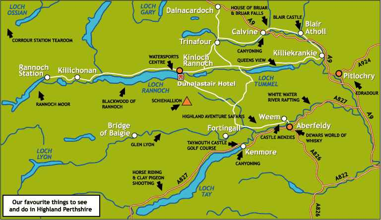 Pitlochry Scotland Map.Pictures Of Travel Tours While Travelling In Scotland On Vacation